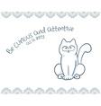 printable of nice gift postcard with hand drawn vector image vector image