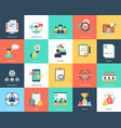 project management flat icons set vector image vector image