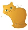 red cartoon cat vector image vector image