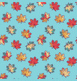 seamless pattern with flat maple leaves vector image vector image