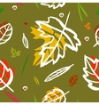 seamless pattern with leaf berries blades vector image vector image