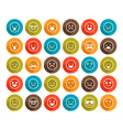 set color smiley icons vector image vector image