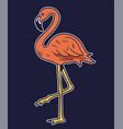 simple drawing pink flamingo bird vector image