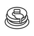 stack of pancakes and syrups sweets and dessert vector image