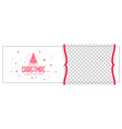 stylish merry christmas banner with image space vector image