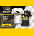 t-shirt template fully editable with atv off-road vector image vector image