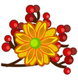 the element of autumn decor in the form of a vector image vector image
