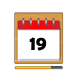 The nineteen days in a calendar vector image