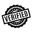 Verified rubber stamp vector image