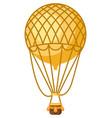 vintage hot air balloon retro vector image