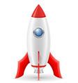 space rocket retro spaceship vector image