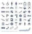 Set of airport icons vector image