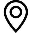 location marker line icon vector image