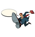 a successful businessman jumps forward vector image