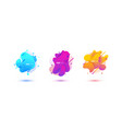 abstract design set of liquid shapes vector image vector image