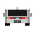 airport tow truck flat front view evacuation vector image vector image