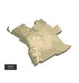 angola map - 3d digital high-altitude topographic vector image