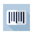 barcode icon vector image vector image