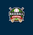 baseball tournament emblem vector image vector image