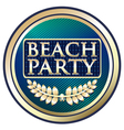 Beach Party Blue Label vector image vector image