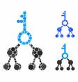 binary key composition icon circles vector image vector image
