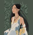 black-haired beautiful young asian woman wearing