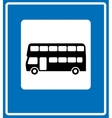 black London bus icon on white background vector image