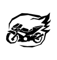 Black sport bike silhouette transport power vector image vector image
