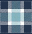 blue and white tartan plaid seamless pattern vector image vector image