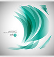 blue curve wave awesome abstract backgrounds vector image vector image