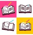 book icon flat design open books symbols vector image vector image