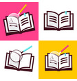book icon flat design open books symbols with vector image vector image