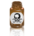 bottle of poison vector image vector image