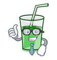 businessman green smoothie character cartoon vector image vector image
