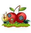 cherry house with lantern vector image vector image