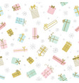 christmas gifts presents pattern vector image vector image