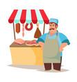 classic butcher professional butcher man vector image