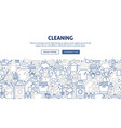 cleaning banner design vector image vector image