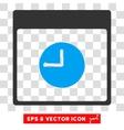 Clock Calendar Page Eps Icon vector image vector image