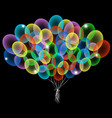 colorful abstract balloons vector image