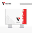 company ad banner design and card with red theme vector image vector image