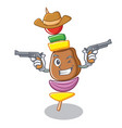 cowboy barbecue character cartoon style vector image vector image