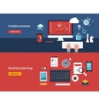 Creative process and business planning vector image vector image