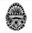 decorative floral silhouette Easter egg vector image vector image
