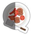 delicious meat beef menu vector image vector image