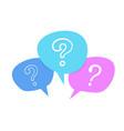 doodle speech bubble question mark symbol vector image
