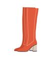 fashion women s block-heeled high boots modern vector image