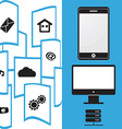 File Transfer mobile phone vector image vector image