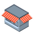 food street shop icon isometric style vector image vector image
