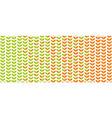 green spring leaf geometric vintage pattern vector image